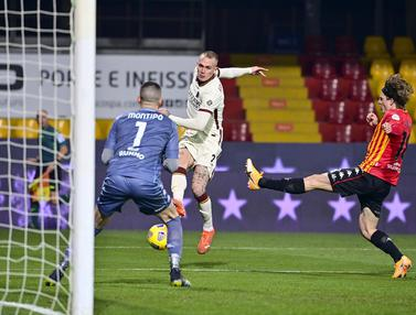 AS Roma Gagal Hancurkan 10 Pemain Benevento