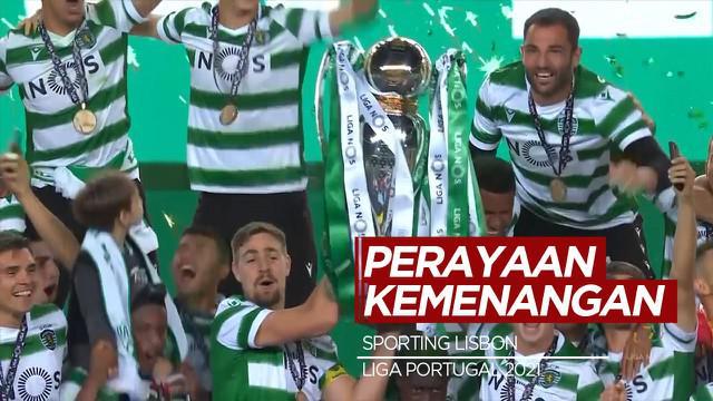 Berita Video Melihat Perayaan Kemenangan Sporting Lisbon Usai Puasa Gelar dari Liga Portugal Selama 19 Tahun