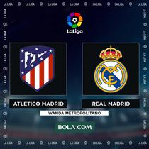 La Liga - Atletico Madrid Vs Real Madrid (Bola.com/Adreanus Titus)