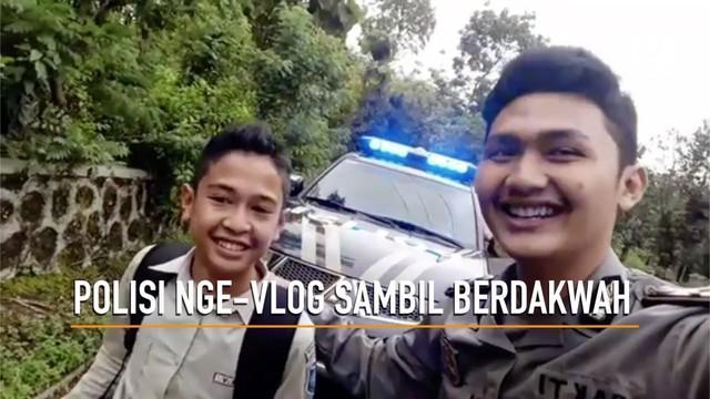 Ini dia aksi polisi zaman now, Bripda Bagas Maulana Sakti dari Polsek Rongkop, Gunung Kidul, Yogjakarta, yang viral di media sosial.