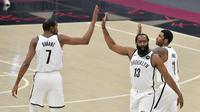 Trio Maut Brooklyn Nets saat debut di NBA 2020-2021 (AFP)