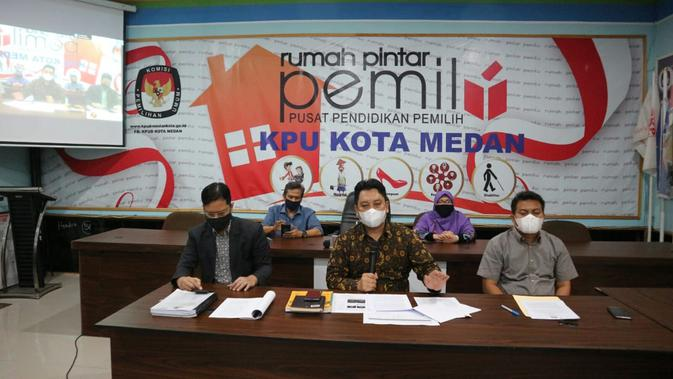 Penetapan paslon Pilwalkot Medan 2020.