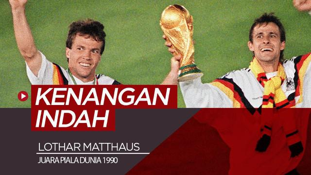 Berita video wawancara eksklusif legenda Timnas Jerman dan Bayern Munchen, Lothar Matthaus, soal kenangan indahnya di Piala Dunia 1990.