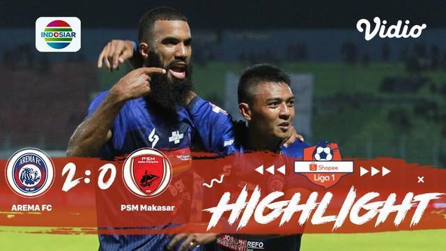 Laga lanjutan #shopeeliga1, #Arema FC vs #PSM Makassar pada hari Rabu malam (02/10/2019) berakhir  dengan skor 2-0.