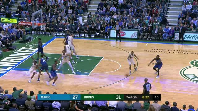 Berita video game recap NBA 2017-2018 antara Milwaukee Bucks melawan Orlando Magic dengan skor 102-86.