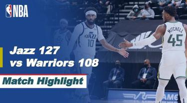 Berita video highlights kekalahan Golden State Warriors dari Utah Jazz 108-127, di mana Stephen Curry melampaui rekor legenda NBA, Reggie Miller, dalam laga tersebut, Minggu (24/1/2021) siang hari WIB.