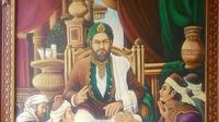 Lukisan Sultan Malik Ash-Saleh karya Sayed Dahlan Al Habsyi (Liputan6.com / Rino Abonita).