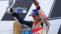 Pembalap Repsol Honda, Marc Marquez. (AFP/Adrian Dannis)