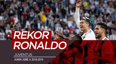 Berita video Cristiano Ronaldo mencetak rekor setelah mengantarkan Juventus juara Serie A 2018-2019.