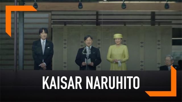 Kaisar Naruhito akhirnya tampil ke publik dengan jabatan barunya. Naruhito berdoa untuk kesehatan dan kebahagiaan warga Jepang.