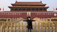 Gerbang Tiananmen sepi dari kunjungan wisatawan (dok.instagram/@kkyu_mini/https://www.instagram.com/p/CKY3h1UhhHq/Komarudin)