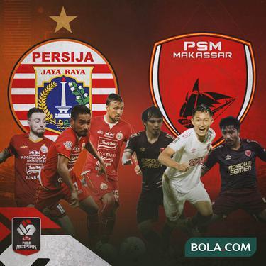 Piala Menpora - Duel Gelandang Persija Jakarta Vs PSM Makassar