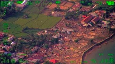 Potret Memilukan Kota Palu Usai Gempa - Tsunami Dilihat dari Udara