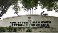 Gedung Komisi Pemilihan Umum (KPU) RI, Jalan Imam Bonjol, Jakarta. (Liputan6.com/Herman Zakharia)