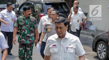 Bersama Panglima TNI dan Kapolri, Wiranto Bahas RUU KUHP hingga Karhutla