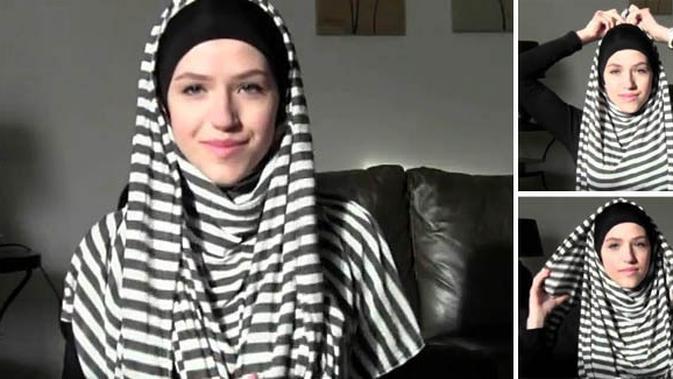 Tutorial Hijab Pashmina Panjang Menutup Dada Beauty Fimela Com