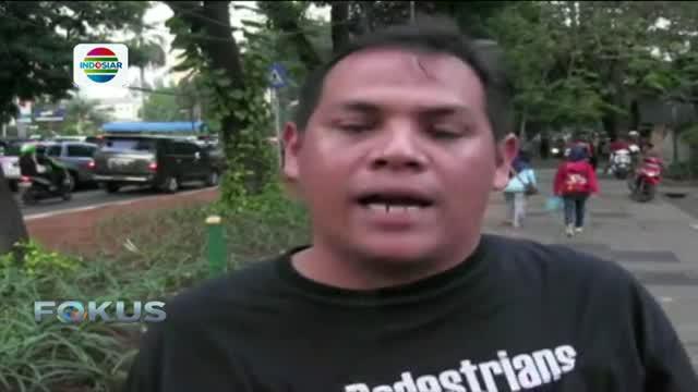 Alih-alih menuntut keadilan di trotoar, massa yang tergabung dalam Koalisi Pejalan Kaki malah terlibat keributan dengan pemotor.