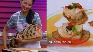 Viral, Kontes Memasak di Thailand Gunakan Bahan Ekor Buaya