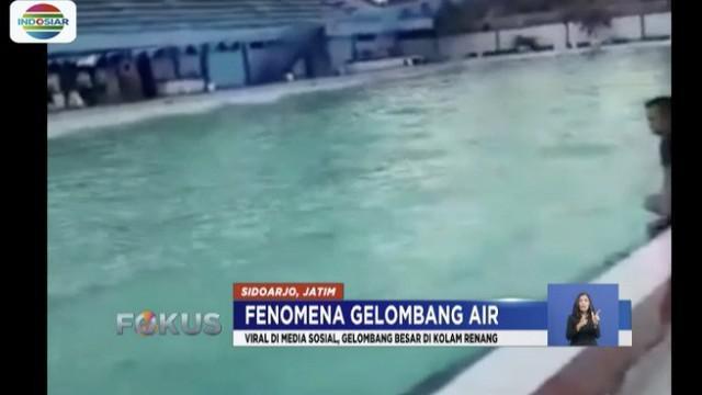 Pihak Danlanud Angkatan Laut Juanda juga membantah informasi yang menyebutkan gelombang air di kolam renang tersebut berasal dari peralatan latihan Tim SAR.