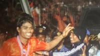 Persija saat menjuarai Liga Indonesia 2001. (Bola.com/Rep. Buku Gue Persija)