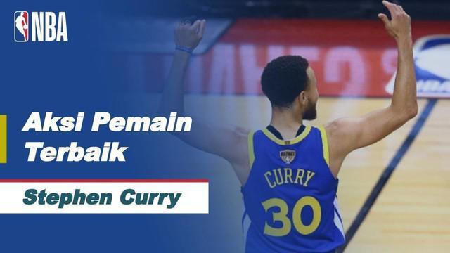 Berita video bintang Golden State Warriors, Stephen Curry, tampil gemilang dan menjadi pemain terbaik NBA hari ini, Selasa (13/4/2021) WIB.