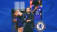 Chelsea - Frank Lampard dan 2 Pemain Chelsea (Bola.com/Adreanus Titus)