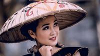 Gadis Dayak. (dok. instagram.com/m.a88__/https://www.instagram.com/p/B1SXGoYhzF4/Novi Thedora)