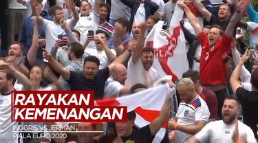Berita Video Fans Timnas Inggris Rayakan Kemenangan di London Usai The Three Lions Kalahkan Jerman di Babak 16 Besar Euro 2020