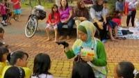 Komunitas Kadotaman didirikan dengan sasaran memperkenalkan berbagai sisi positif mendongeng.