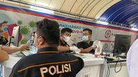 Layanan rapid test Covid-19 drive thru di Lapangan Merdeka, Jalan Pulau Pinang, Kesawan, Medan Barat, digeledah polisi