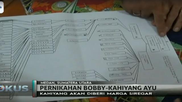 Kahiyang Ayu akan diberi marga siregar pada acara pesta adat 21 November mendatang di Medan.