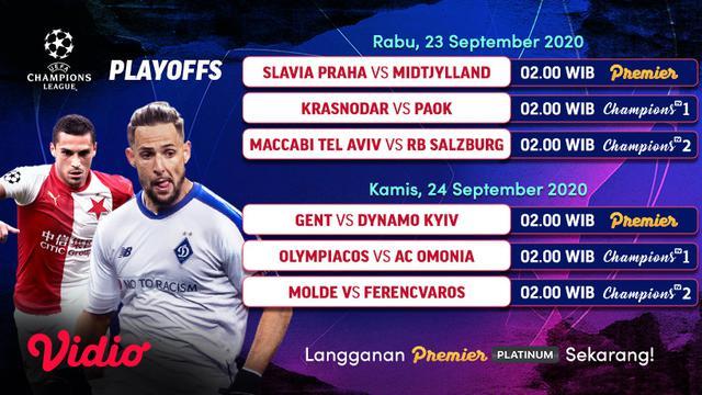 Jadwal Live Streaming Babak Playoff Liga Champions di ...