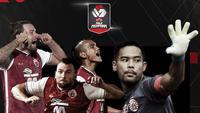 Rapor Pemain Persija Jakarta di semifinal Piala Menpora 2021 leg kedua. (Bola.com/Dody Iryawan)
