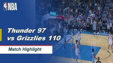 Berita Video Highlights NBA 2019-2020, New Oklahoma Thunder Vs Memphis Grizzlies 97-110