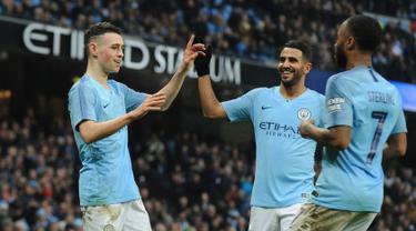 Manchester City Bantai Rotherham United 7-0