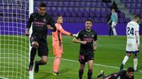 Casemiro rayakan gol saat Real Madrid kalahkan Real Valladolid (AFP)
