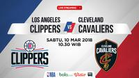 Jadwal NBA, Los Angeles Clippers Vs Cleveland Cavaliers. (Bola.com/Dody Iryawan)