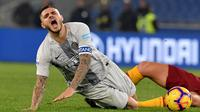 Mauro Icardi dapat kritik pelatih Inter Milan (Tiziana FABI / AFP)