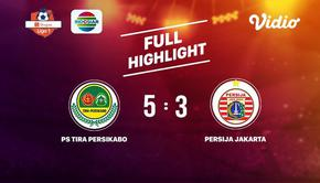 Laga lanjutan Shopee Liga 1, PS Tira Persikabo VS BPersija Jakarta berakhir  5-3 #shopeeliga1 #PS Tira Persikabo #Persija Jakarta