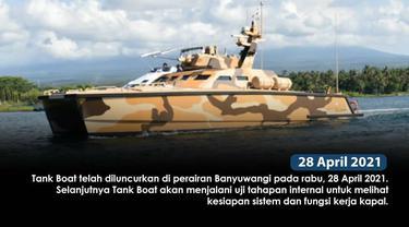 Tank Boat buatan konsorsium PT Pindad (Persero) mulai uji coba