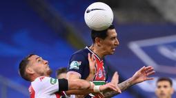 Angel Di Maria. Gelandang asal Argentina ini didepak pada awal musim 2014/2015. Ia hijrah ke manchester United dan hanya bertahan selama 1 musim. Awal 2015/2016 ia pindah ke Paris Saint-Germain dan bertahan 6 musim hingga kini. (AFP/Franck Fife)