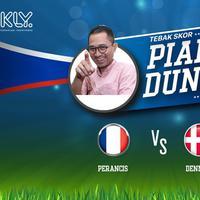 Siapakah tim yang diprediksi menang dalam laga Perancis Vs Denmark menurut Lukman Sardi?