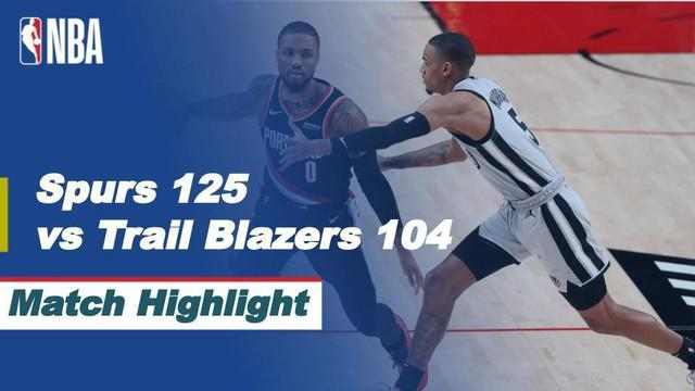 Berita Video Highlights NBA, San Antonio Spurs Bungkam Portland Trail Blazers 125-104 pada Senin (18/1/2021)