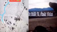 Viral Penampakan Pria Seram Berdiri di Google Earth Lingkaran Kota Hantu (Sumber: Daily Star)