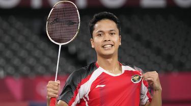 Foto: Tambah Kado Manis untuk Indonesia, Anthony Ginting Persembahkan Medali Perunggu Bulu Tangkis Tunggal Putra Olimpiade Tokyo 2020
