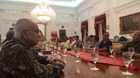 Presiden Jokowi menemui sejumlah tokoh di Istana Merdeka, Kamis (26/9/2019). (Merdeka.com/ Intan Umbari)