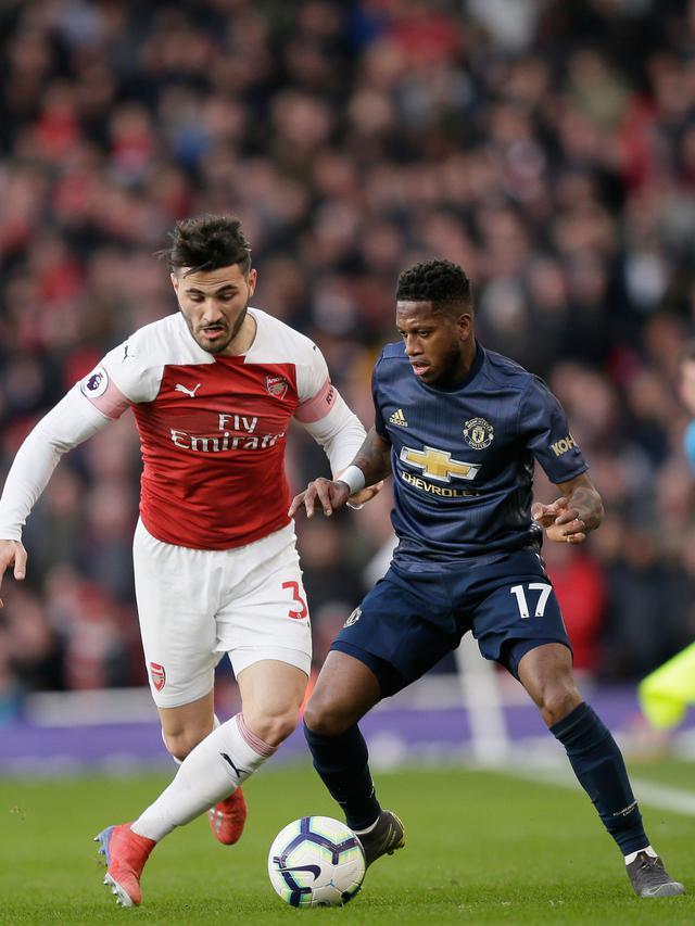 Gol Xhaka dan Aubameyang Antar Arsenal Taklukkan Manchester United
