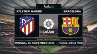 La Liga Atletico Madrid Vs Barcelona (Bola.com/Adreanus Titus)