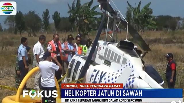 Tim KNKT yang dibantu aparat TNI AU bersama otoritas Bandara Internasional Lombok melakukan olah tempat kejadian perkara dan mengumpulkan data-data.