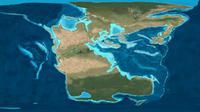 Ilustrasi benua super Pangaea (Wikipedia)